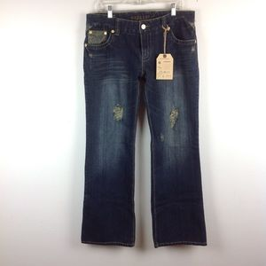 NWT Hydraulic Bootcut Distressed Jeans 14